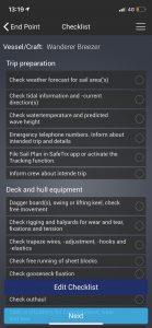 Running through the checklists